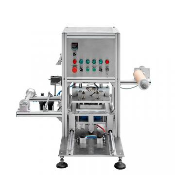 Pneumatic Plastic Film Liquid Yogurt Juice Milk Food Box/Tray /Bowl/Cup/ Container Packing Sealer Sealing Machine